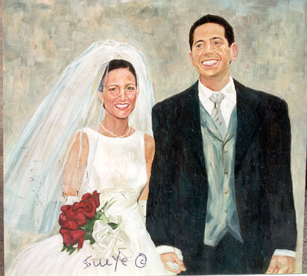Oil Painting Of Wedding Portrait